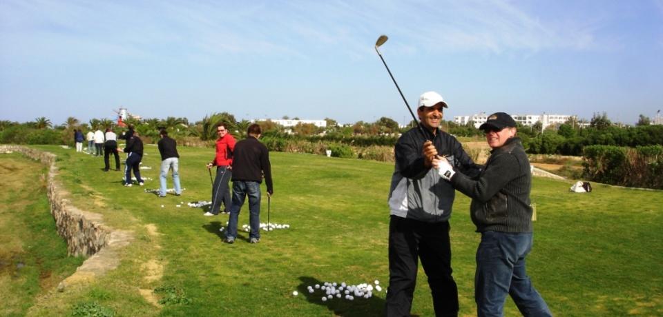 Les meilleurs pros de golf sur le terrain de golf Palm Links Monastir Tunisie