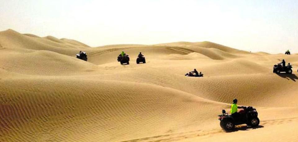 Quad pour Groupes au Sahara Tunisie