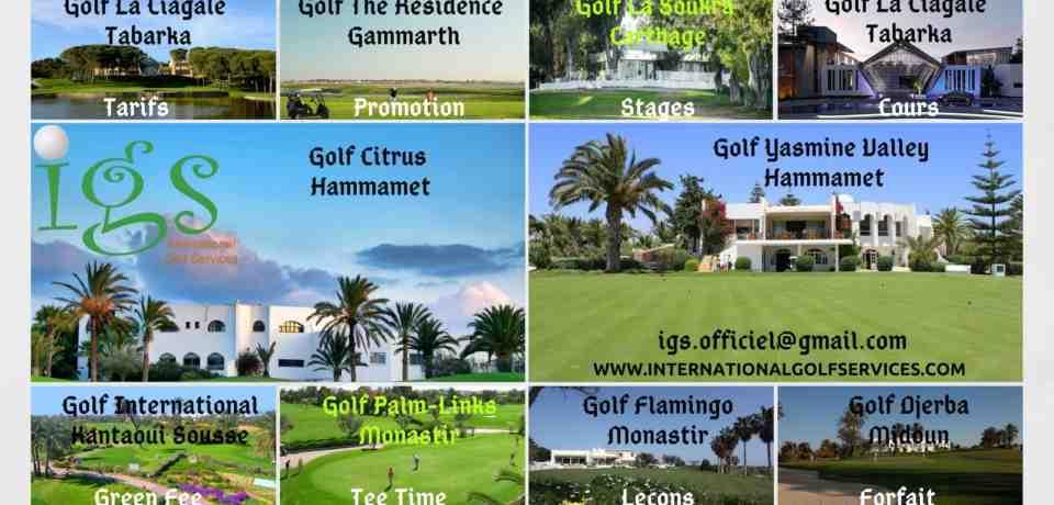 Parcours et terrains de golf en Tunisie